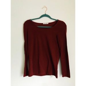 Heart and Hips Maroon Long Sleeve Shirt